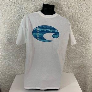 Costa men's white T shirt size L